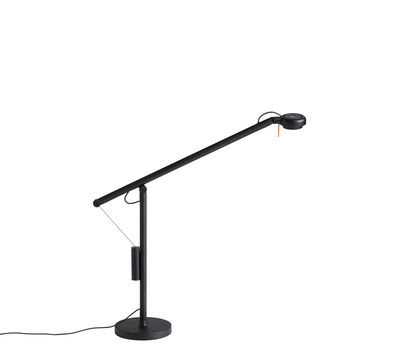 Lampe de table Fifty-Fifty Mini / Orientable - H 45 cm - Hay noir en métal