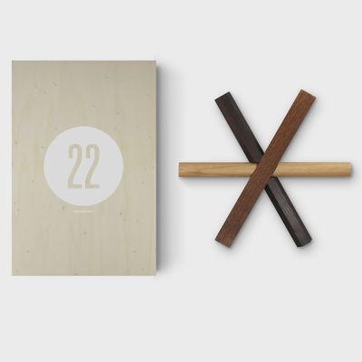 Foto Cofanetto Designerbox#22 / Sottopiatto Sticks - Dan Yeffet - Designer Box - Legno naturale,Chêne teinté - Legno