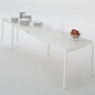 Campo d 39 oro tavolo modulabile bianco by de padova made in design - Tavolo de padova quadrato ...