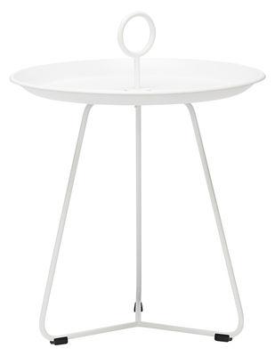 Tavolino basso Eyelet Small / Ø 45 x H 46,5 cm - Houe - Bianco - Metallo