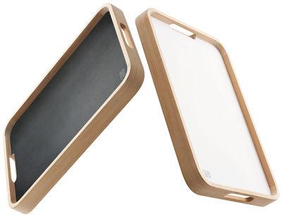 Tablett Holz Design dual doppelseitig verwendbar jia tablett