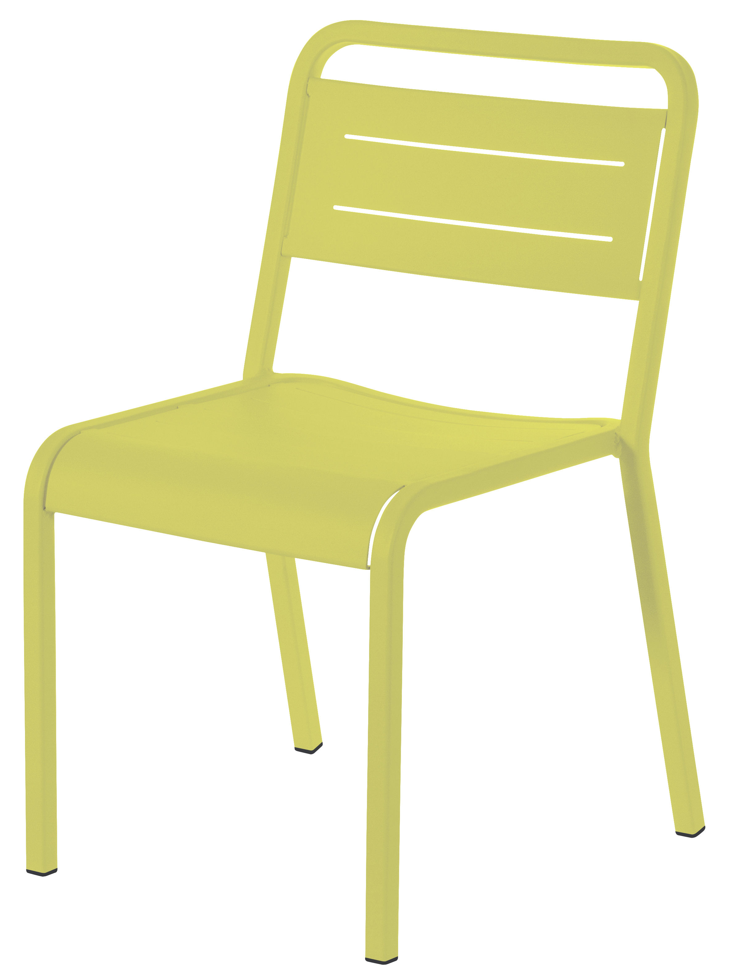 Chaise empilable urban m tal vert emu for Salle a manger urban