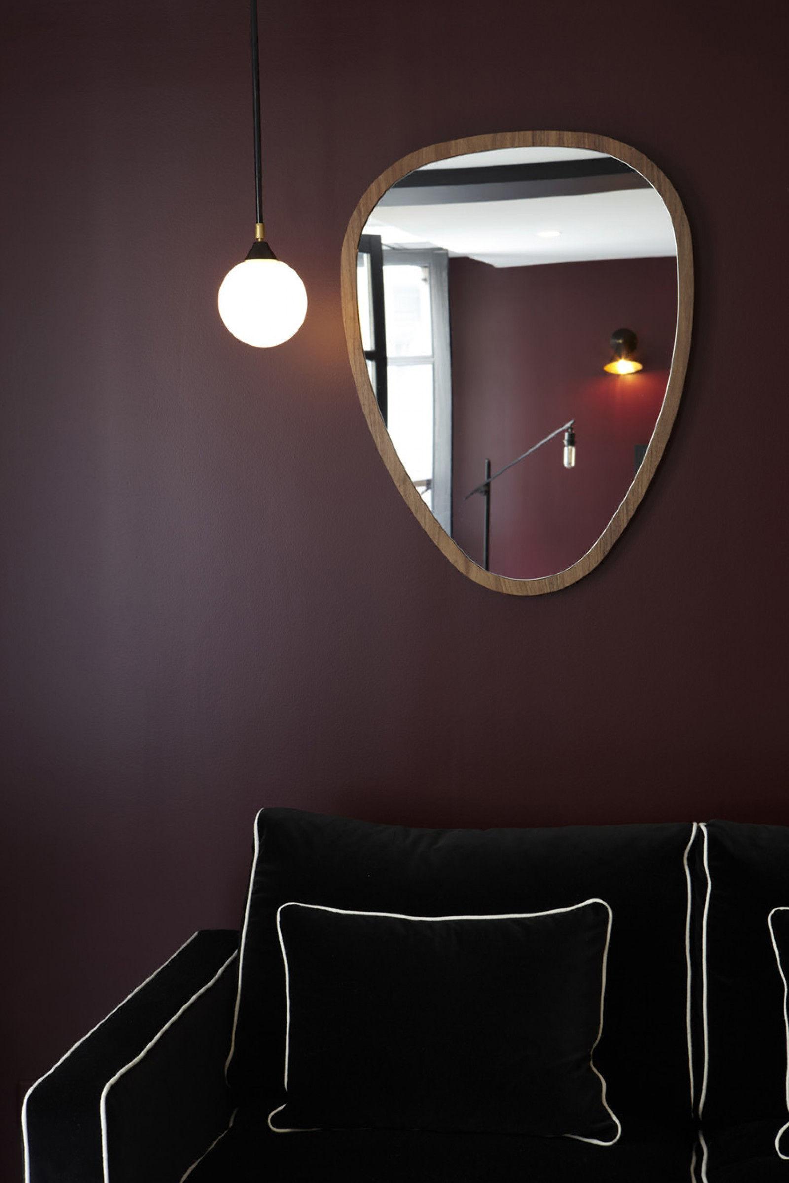 Miroir Collable Of Ovo Wall Mirror Medium 57 X 75 Cm Walnut By Maison