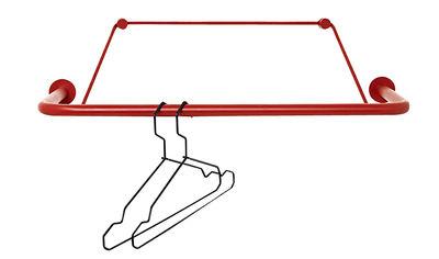 Déco - Portemanteaux et patères - Portant Gravity mural / L 60 cm - Nomess - Rouge - Métal, Polyester