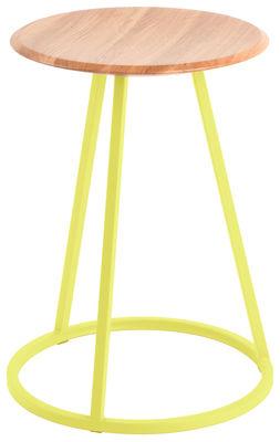 Foto Sgabello Gustave - / H 45 cm di Hartô - Giallo limone - Metallo