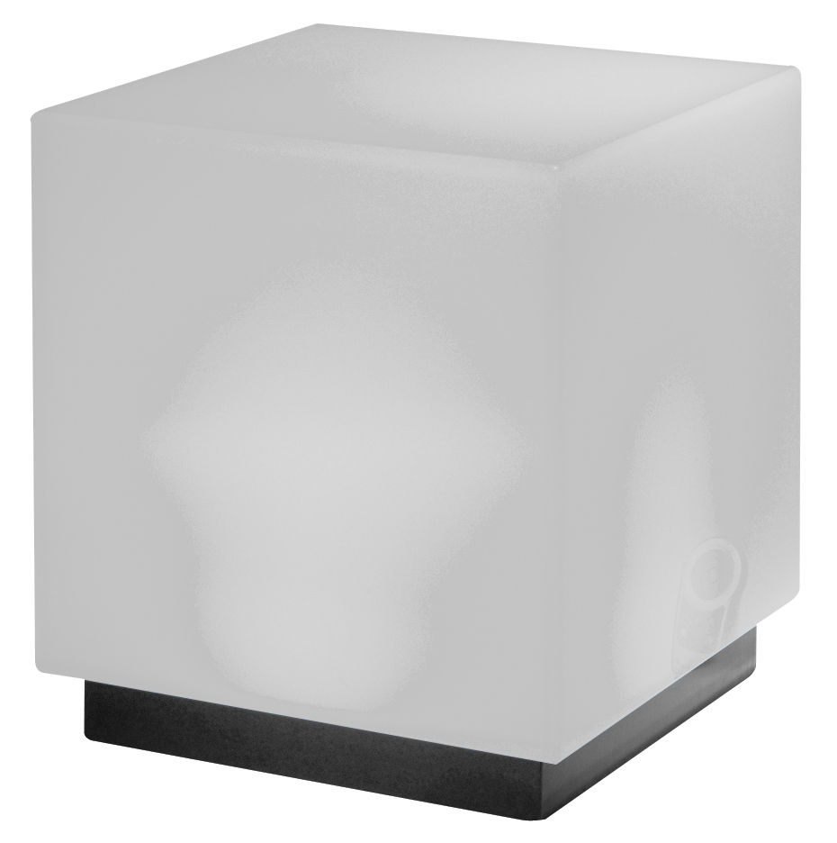 Light Cube Mono Luminous Low Stool White By Viteo