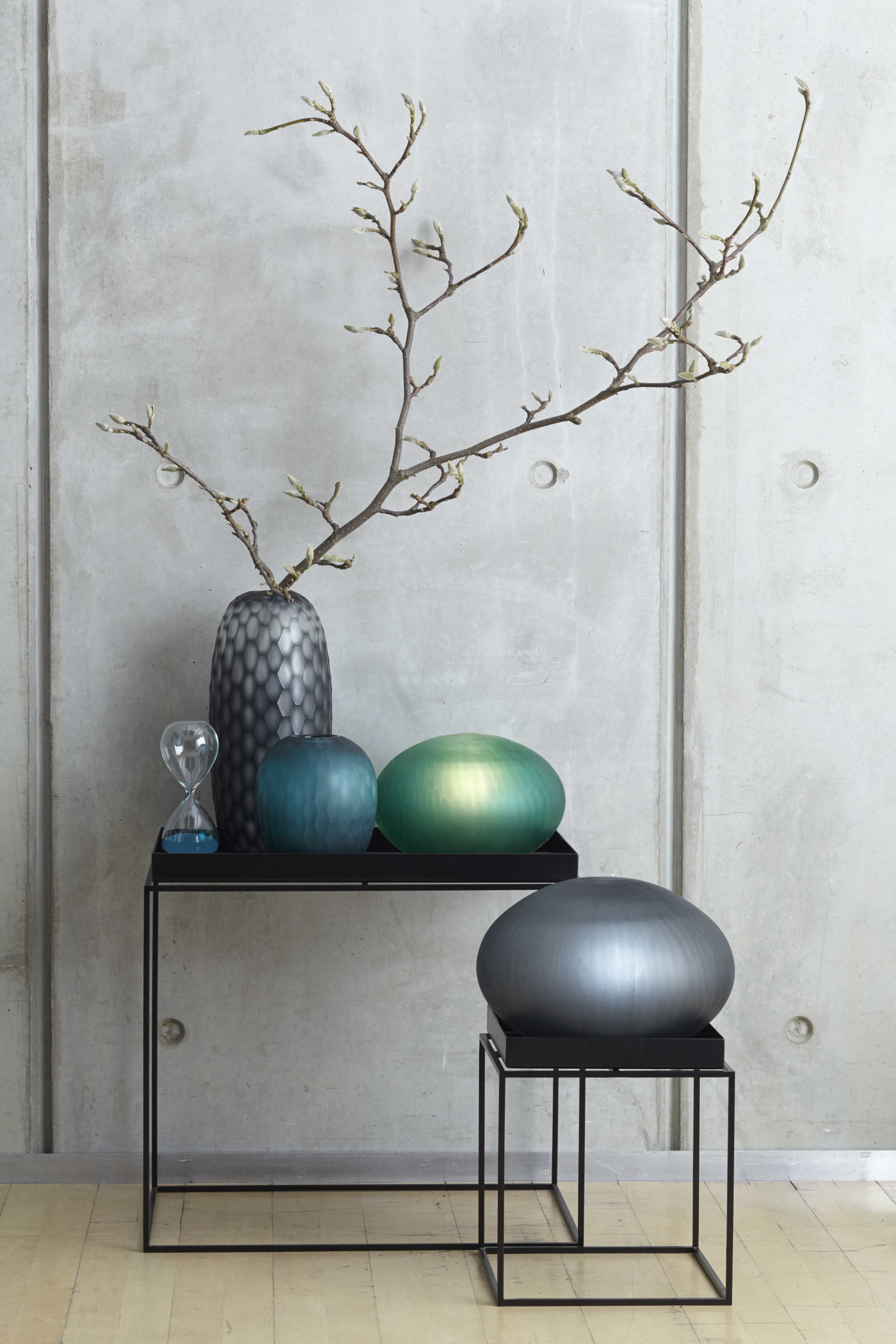 galassia vase grey by leonardo. Black Bedroom Furniture Sets. Home Design Ideas
