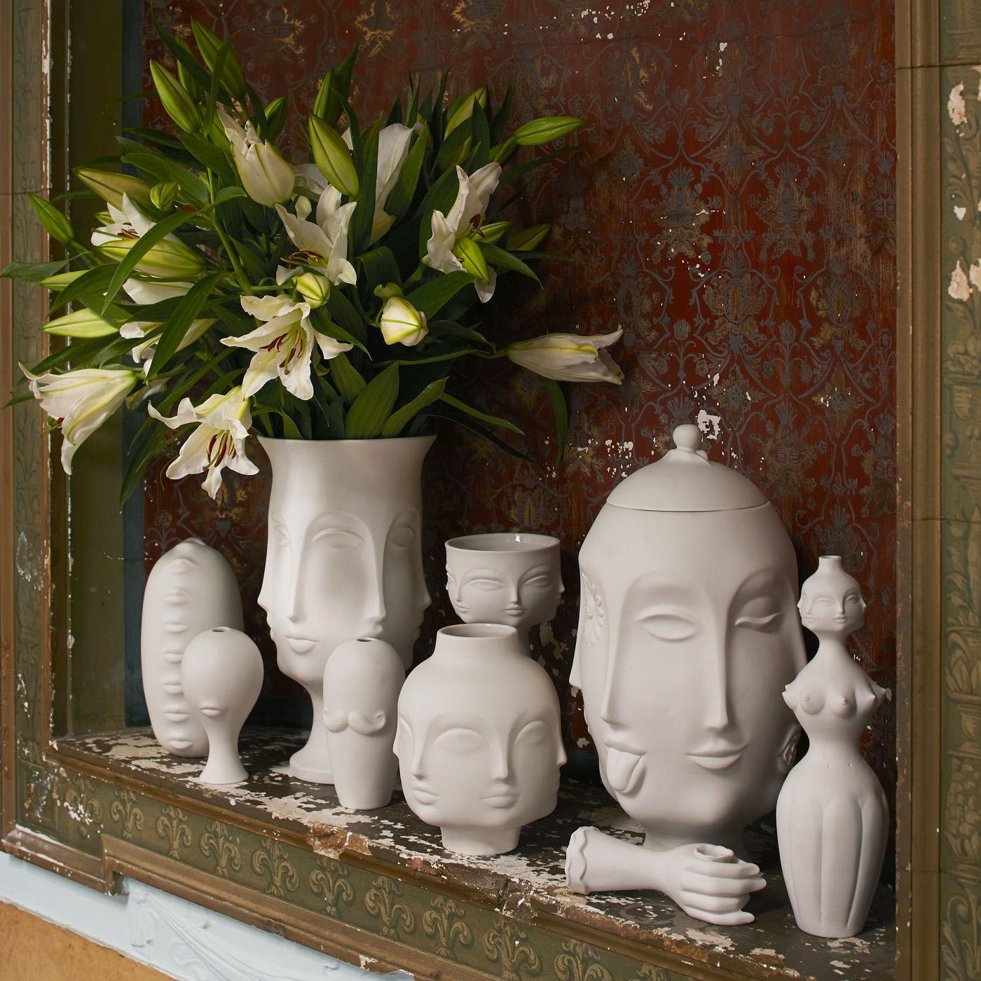 Dora Maar Vase White Dora Maar By Jonathan Adler Made
