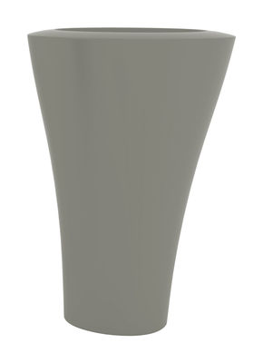 Pot de fleurs Ming Extra High H 140 cm - Serralunga argent mat en matière plastique