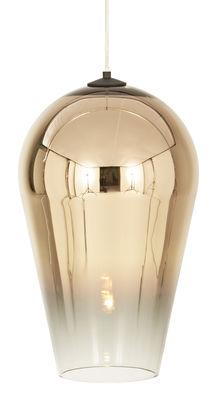 Foto Sospensione Fade / Policarbonato - H 48 cm - Tom Dixon - Oro,Trasparente - Materiale plastico