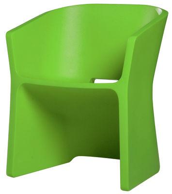Foto Poltrona Sliced Chair di Qui est Paul ? - Verde - Materiale plastico