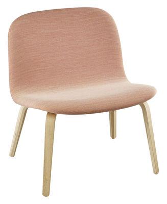 Poltrona bassa Visu - / Versione tessuto - Seduta H 35 cm di Muuto - Rosa - Tessuto