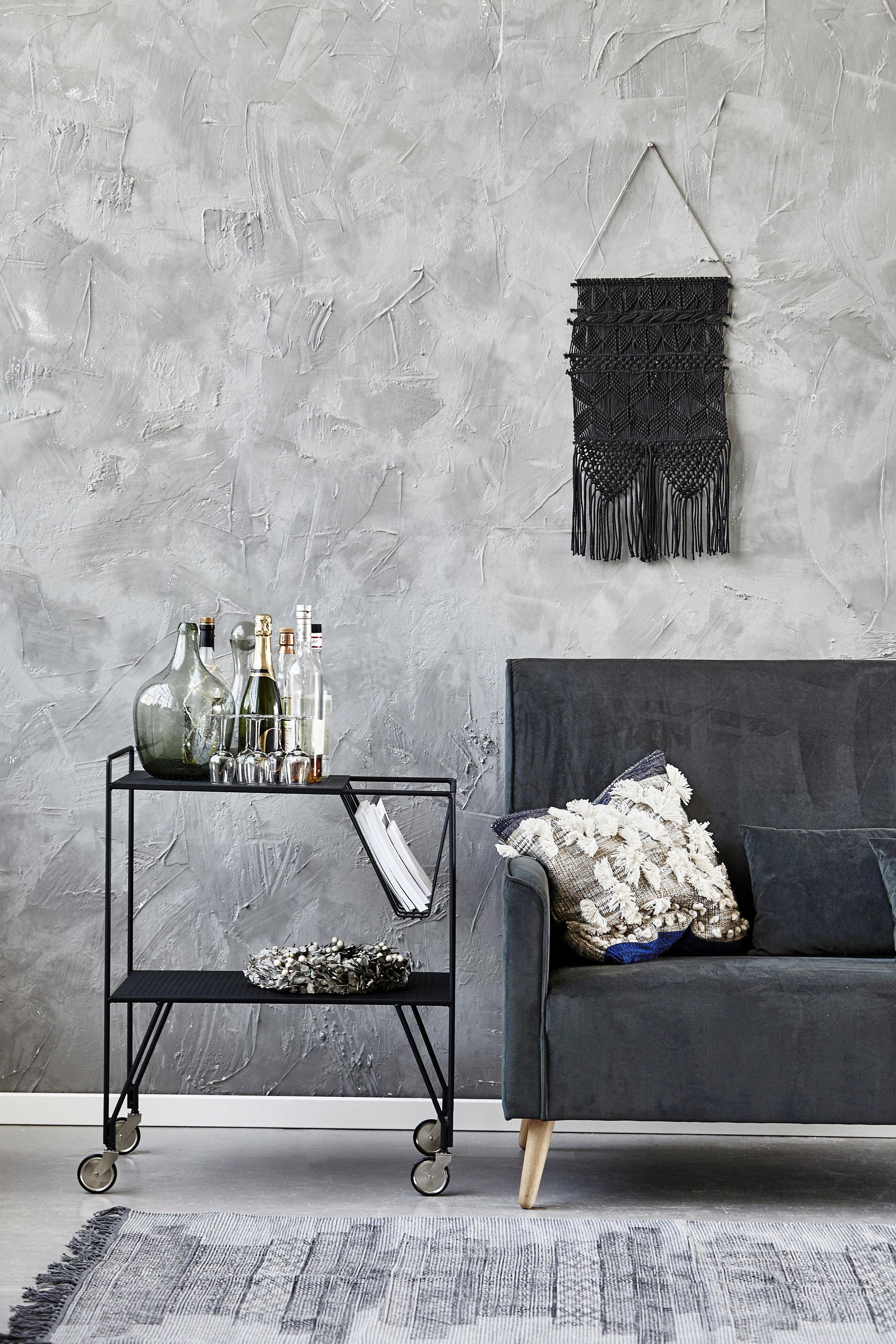 d coration murale artesian macram coton fait main h 60 cm ivoire cuivre house doctor. Black Bedroom Furniture Sets. Home Design Ideas