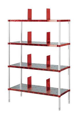 Delightful Furniture   Bookcases U0026 Bookshelves   Partner Bookcase   4 Shelves By  Kartell   Ruby Red