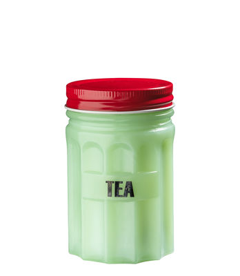Boîte Tea / H 11 cm - Porcelaine - Bitossi Home rouge,vert en céramique