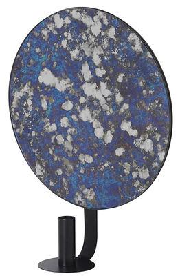 Miroir mural Coupled Round Miroir effet piqué Ø 30 cm Ferm Living bleu,noir en verre