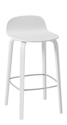 Tabouret de bar Visu / Bois - H 65 cm - Muuto blanc en bois