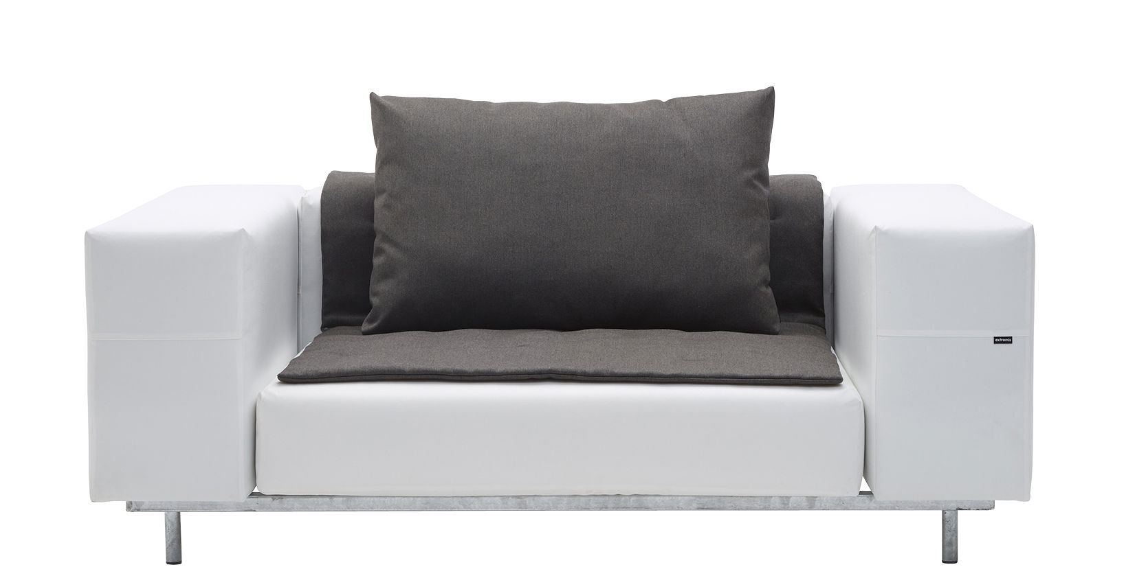 canap droit walrus l 170 cm blanc extremis. Black Bedroom Furniture Sets. Home Design Ideas