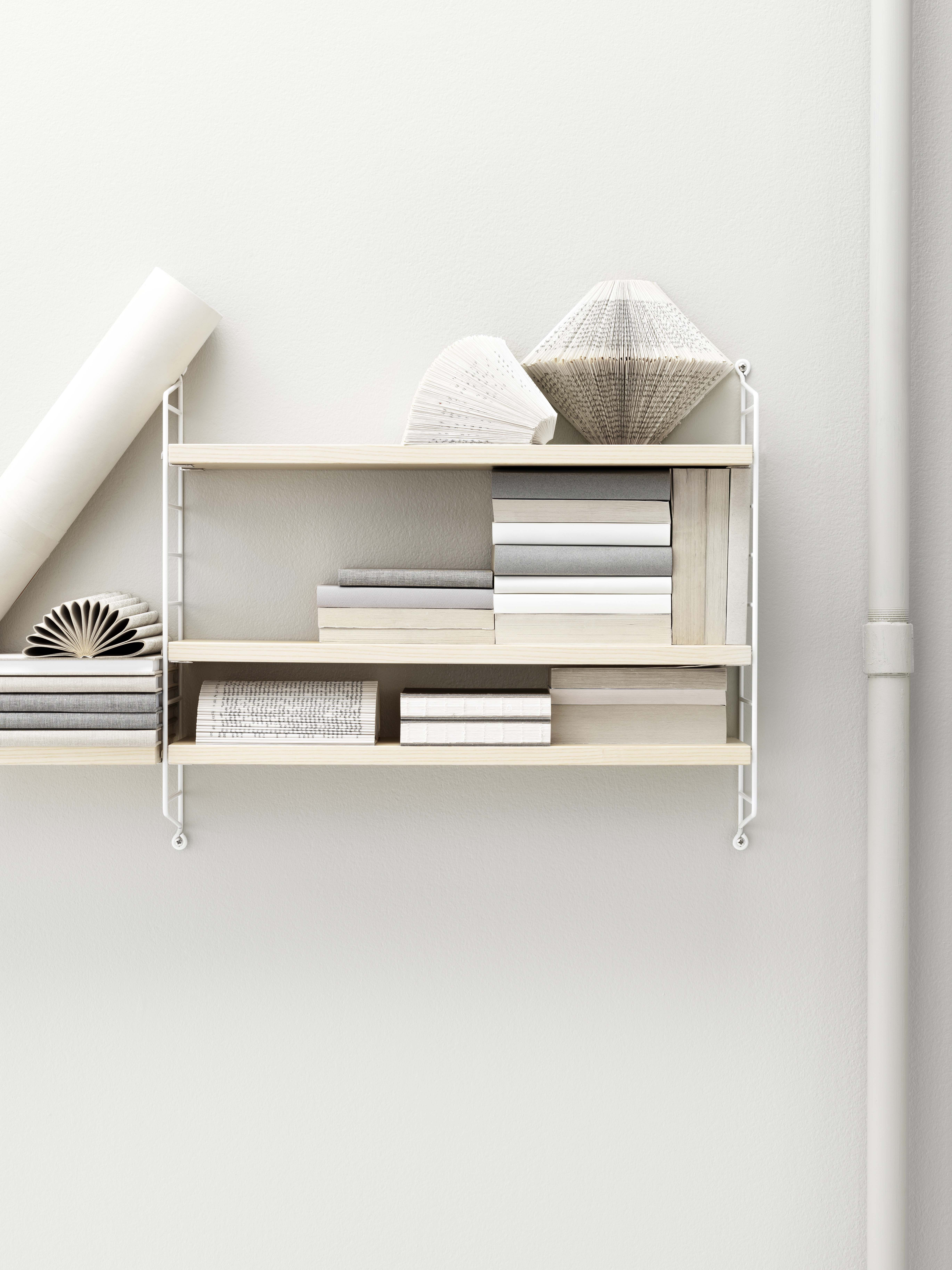 string pocket shelf white ash shelves by string furniture. Black Bedroom Furniture Sets. Home Design Ideas