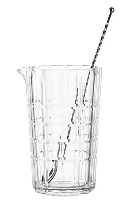 Arts de la table - Bar, vin, apéritif - Verre mélangeur Spiritii / Avec cuillère - Leonardo - Transparent & acier - Acier inoxydable, Verre
