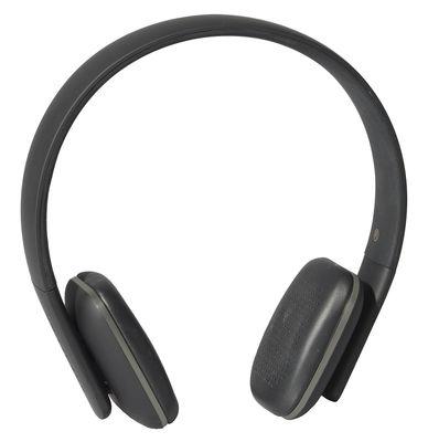 Casque Bluetooth A.HEAD Bluetooth Kreafunk noir,métal en cuir