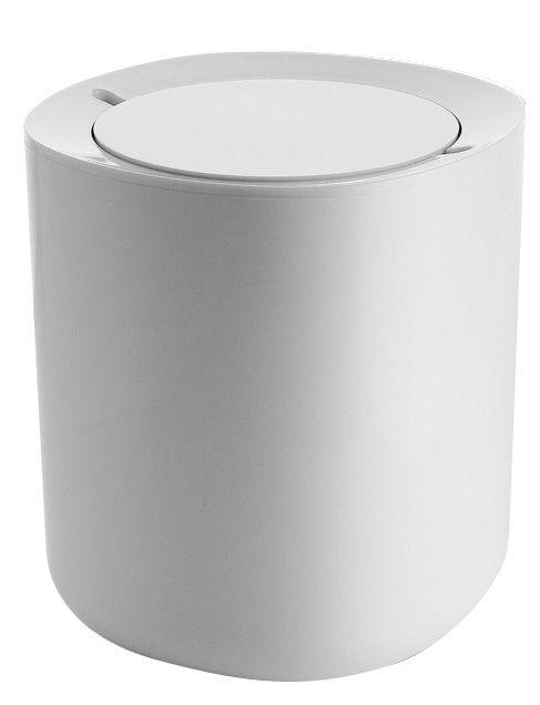 poubelle birillo salle de bains h 21 cm blanc alessi. Black Bedroom Furniture Sets. Home Design Ideas
