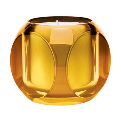 Bougie parfumée Dice / Kartell Fragrances - H 7,5 cm - Kartell orange en matière plastique