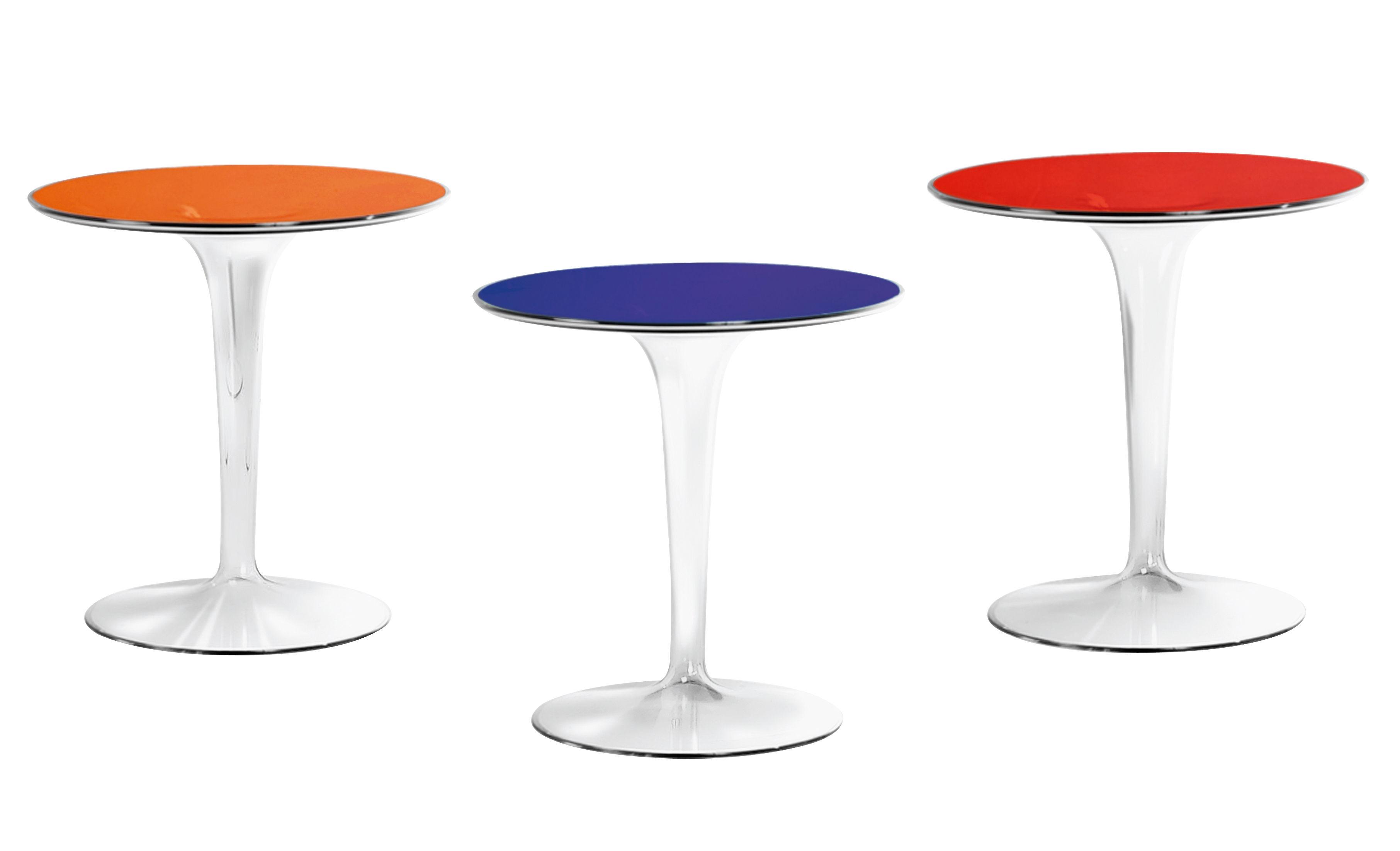 table d 39 appoint tip top plateau pmma rouge pied cristal kartell. Black Bedroom Furniture Sets. Home Design Ideas