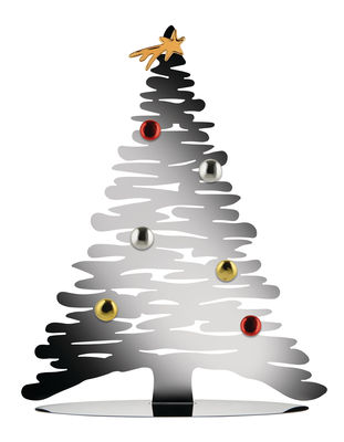 Déco - Objets déco et cadres-photos - Décoration Bark Tree / Sapin avec aimants colorés - H 45 cm - Alessi - Acier - Acier, Porcelaine