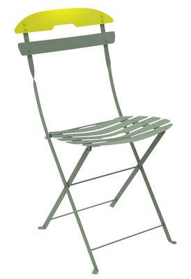 Chaise pliante La Môme Acier Bicolore Fermob verveine,romarin en métal