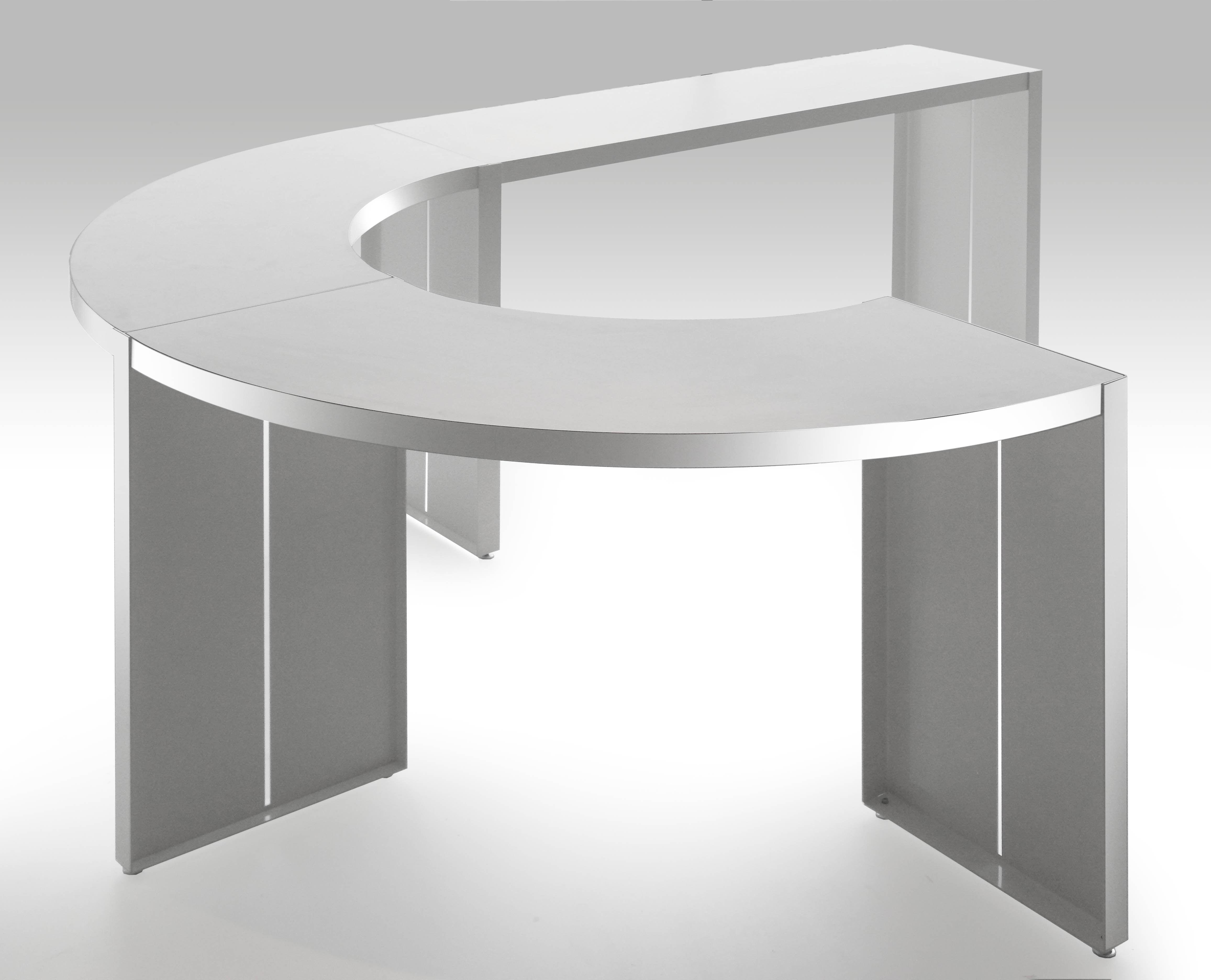 table haute panco h 110 cm l 290 cm blanc lapalma. Black Bedroom Furniture Sets. Home Design Ideas
