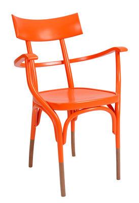 Czech Sessel / Holz - Wiener GTV Design - Orange,Holz natur