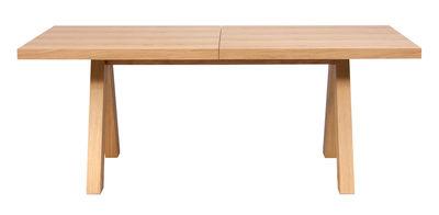 Tendances - Espace Repas - Table à rallonge Oak / L 200 à 250 - 6 à 8 personnes - POP UP HOME - Chêne rustique - MDF plaqué chêne, Panneaux d'aggloméré plaqué chêne