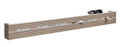 Foto Appendiabiti Line-up - / L 60 cm di Nomess - Bianco,Legno chiaro - Legno