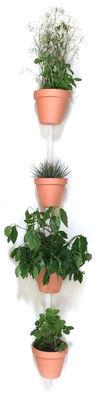 Déco - Pots et plantes - Support mural XPOT / Pour 4 pots de fleurs ou étagères - H 200 cm - Compagnie - Blanc - Chêne massif verni