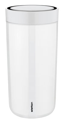 Mug isotherme To Go Click / Large - 34 cl - Stelton blanc en matière plastique