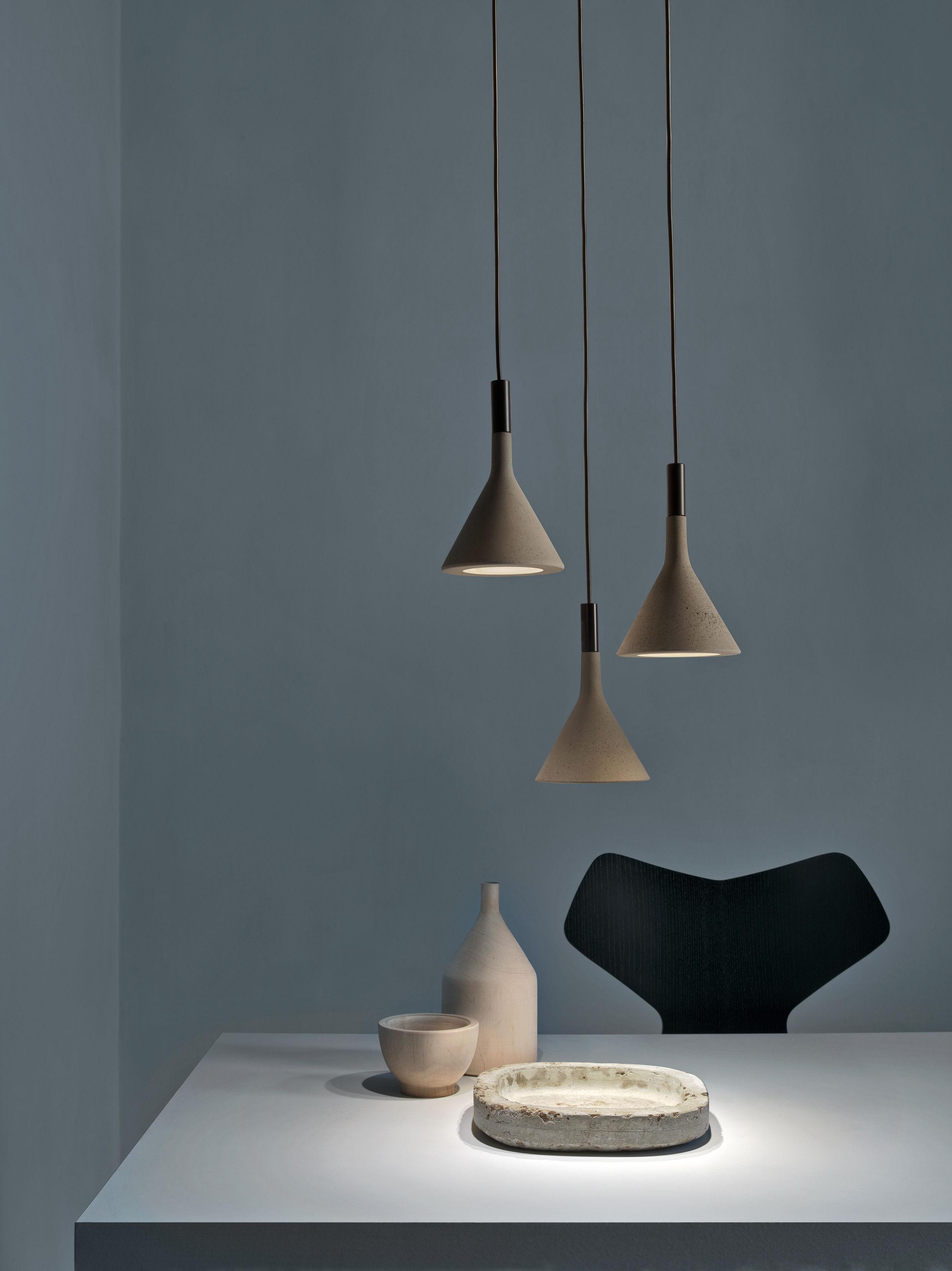mini aplomb beton h 21 cm foscarini pendelleuchte. Black Bedroom Furniture Sets. Home Design Ideas
