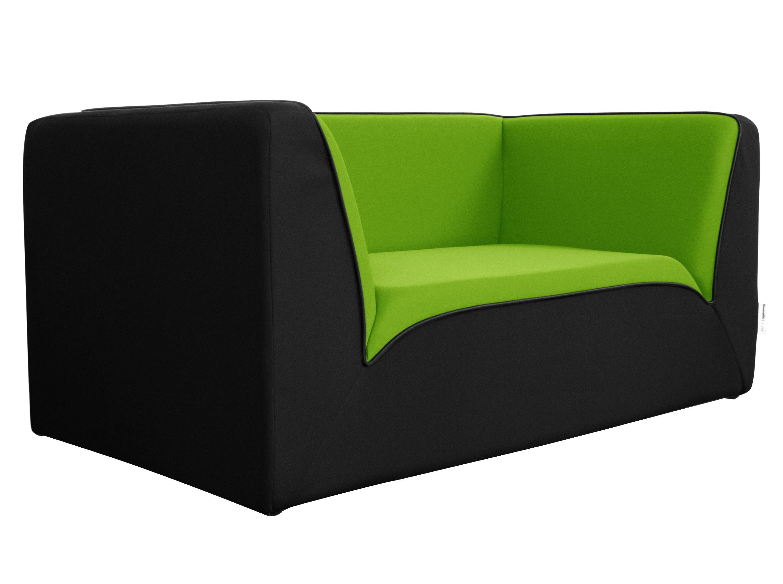 Canap droit e motion by ora ito 2 places l 160 cm noir vert anis pas - Canape 2 places 160 cm ...