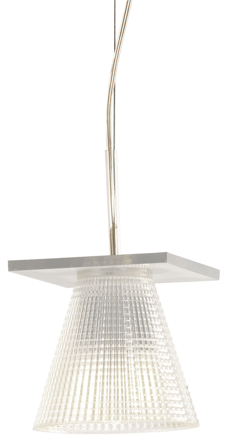 suspension light air abat jour plastique sculpt plastique cristal kartell. Black Bedroom Furniture Sets. Home Design Ideas