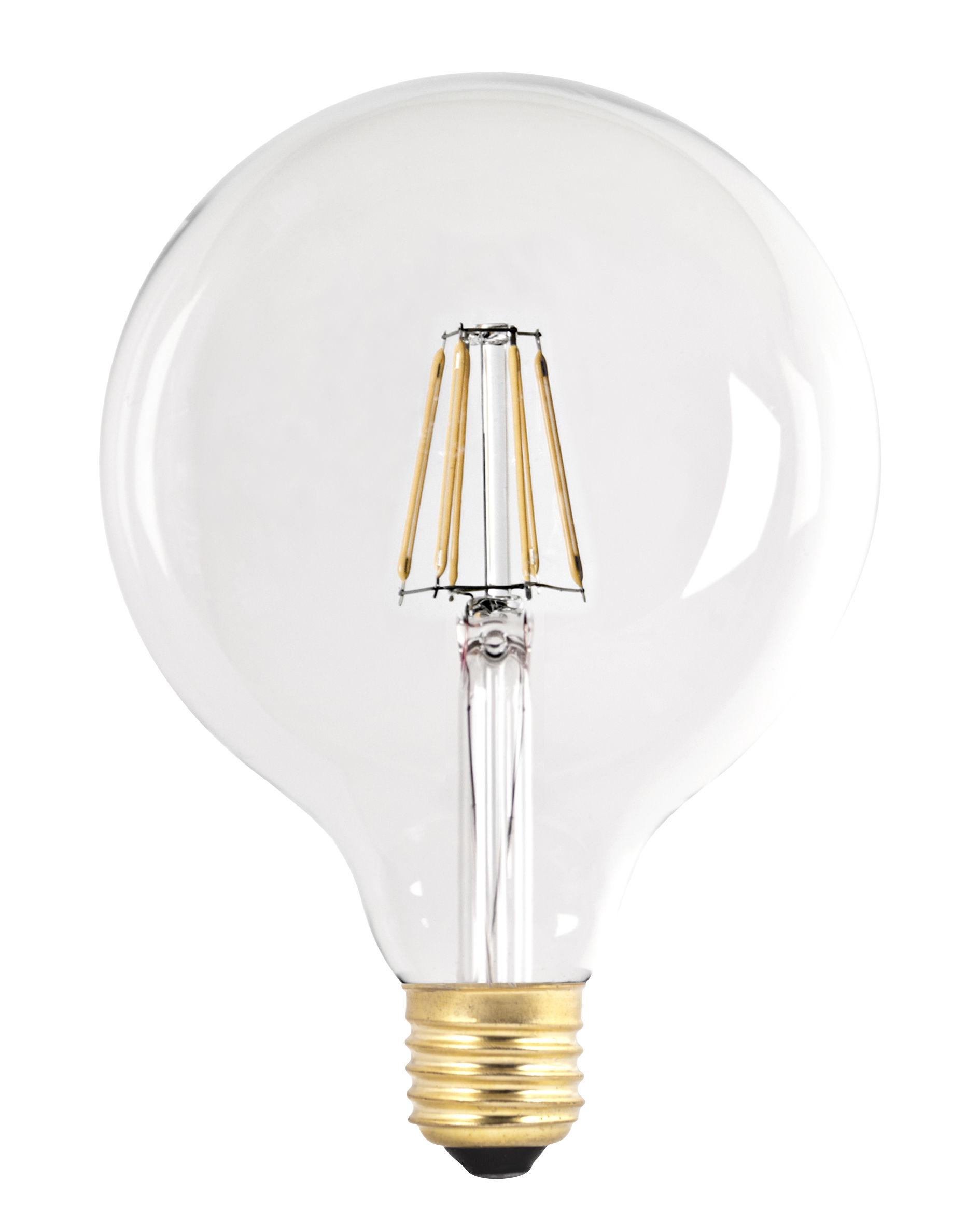 ampoule led filaments e27 g125 6w 60w transparent or pop corn. Black Bedroom Furniture Sets. Home Design Ideas
