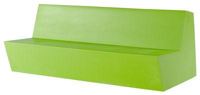 Divano bimbi Minus Primary Quattro - 4 posti di Quinze & Milan - Verde limone - Materiale plastico