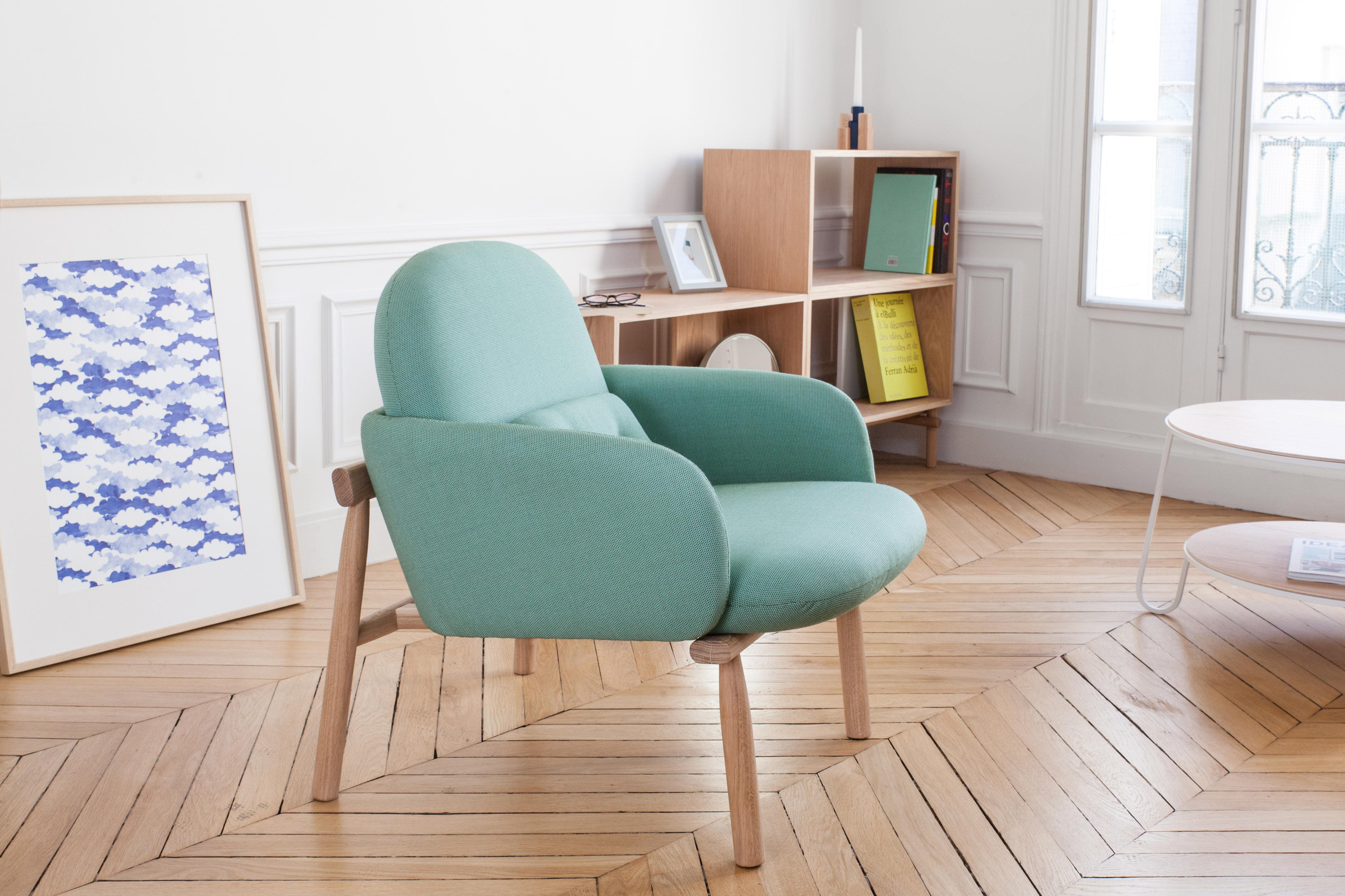 fauteuil rembourr georges vert d 39 eau hart. Black Bedroom Furniture Sets. Home Design Ideas