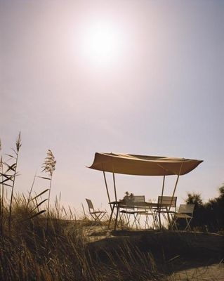 table de jardin tablabri toile pare soleil noir toile. Black Bedroom Furniture Sets. Home Design Ideas