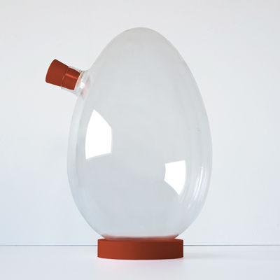 Arts de la table - Carafes et décanteurs - Carafe Egg-s / Sebastian Bergne - Iconic Serie - Designerbox - Transparent / Rouge - Silicone, Verre soufflé