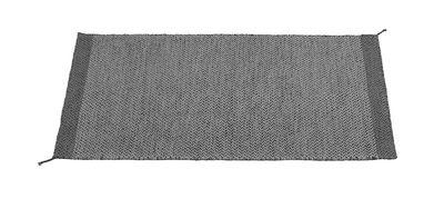 Dekoration - Teppiche - PLY Teppich / 85 x 140 cm - handgewebt - Muuto - Dunkel Grau - Wolle
