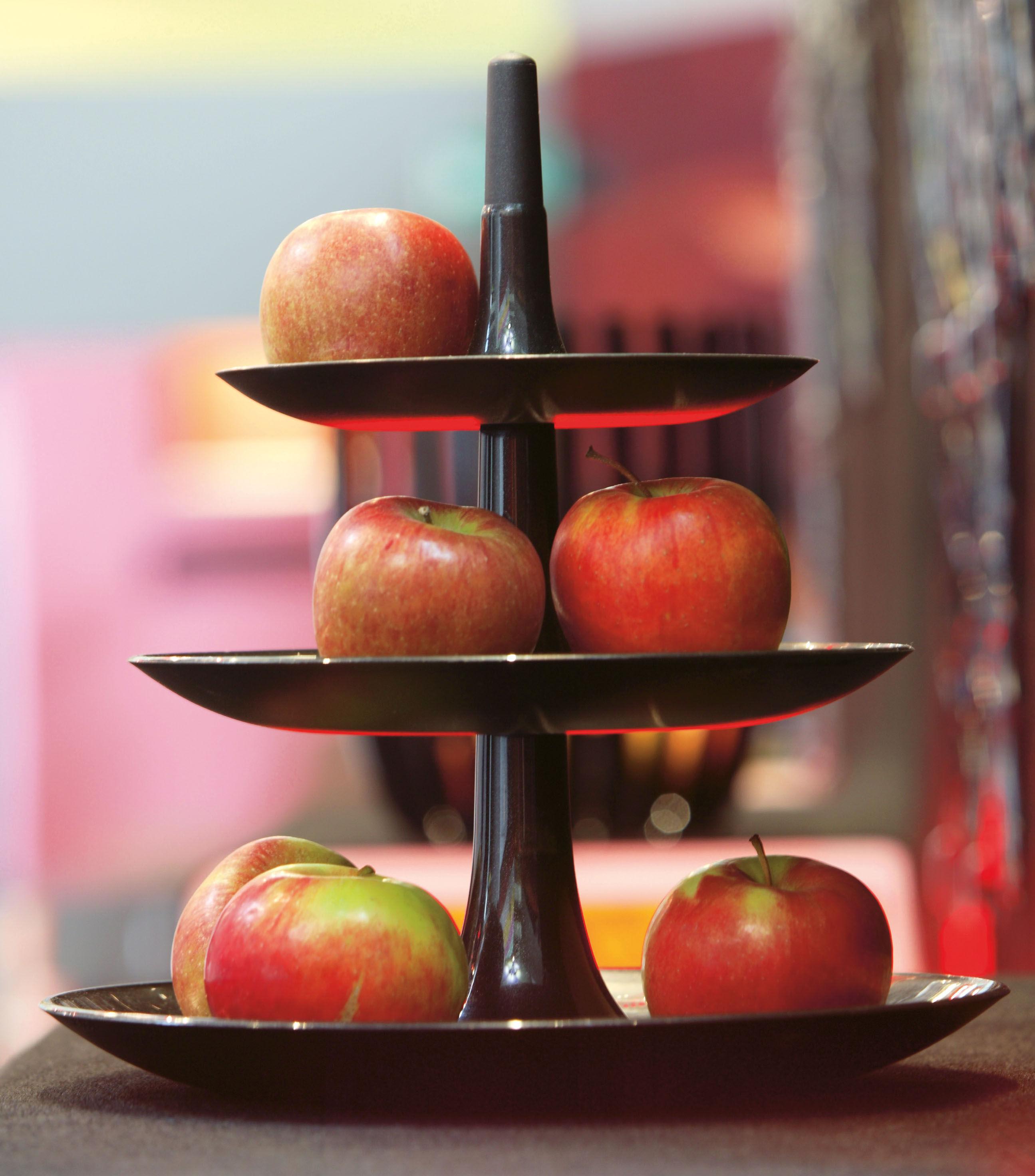 Serviteur babell 31 4 x h 34 cm noir opaque koziol made in design - Corbeille a fruits 3 etages ...