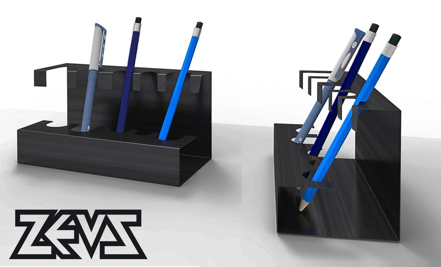 porte stylos zeus pour made in design mod le exclusif en dition limit e noir phosphat zeus. Black Bedroom Furniture Sets. Home Design Ideas