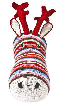 Déco - Pour les enfants - Peluche Tête de renne / Trophée en crochet - Anne-Claire Petit - Multicolore - Coton
