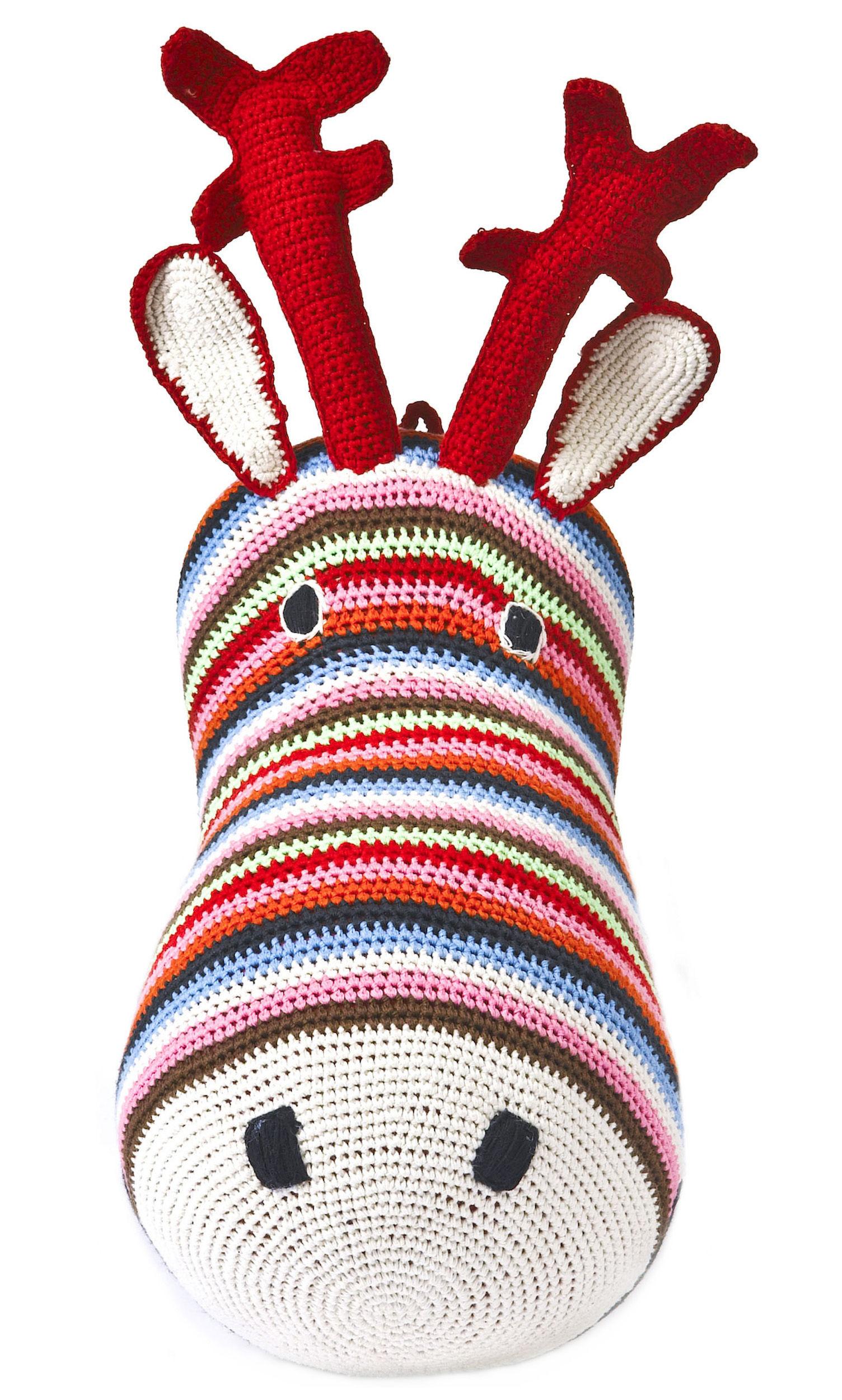 Scopri peluche t te de r ne trofeo a uncinetto multicolore di anne claire petit made in - Trofeos de peluche ...
