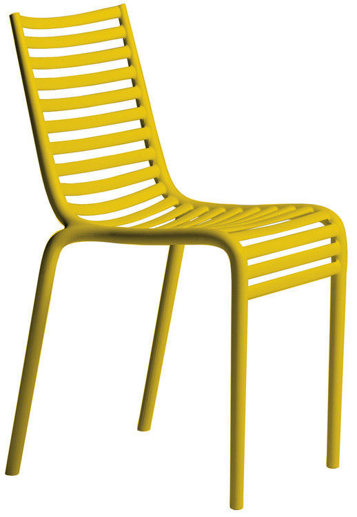 chaise empilable pip e plastique jaune driade made in design. Black Bedroom Furniture Sets. Home Design Ideas